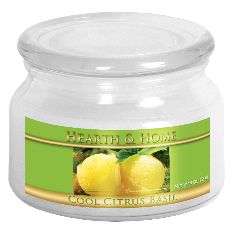Cool Citrus Basil - Small Jar Candle