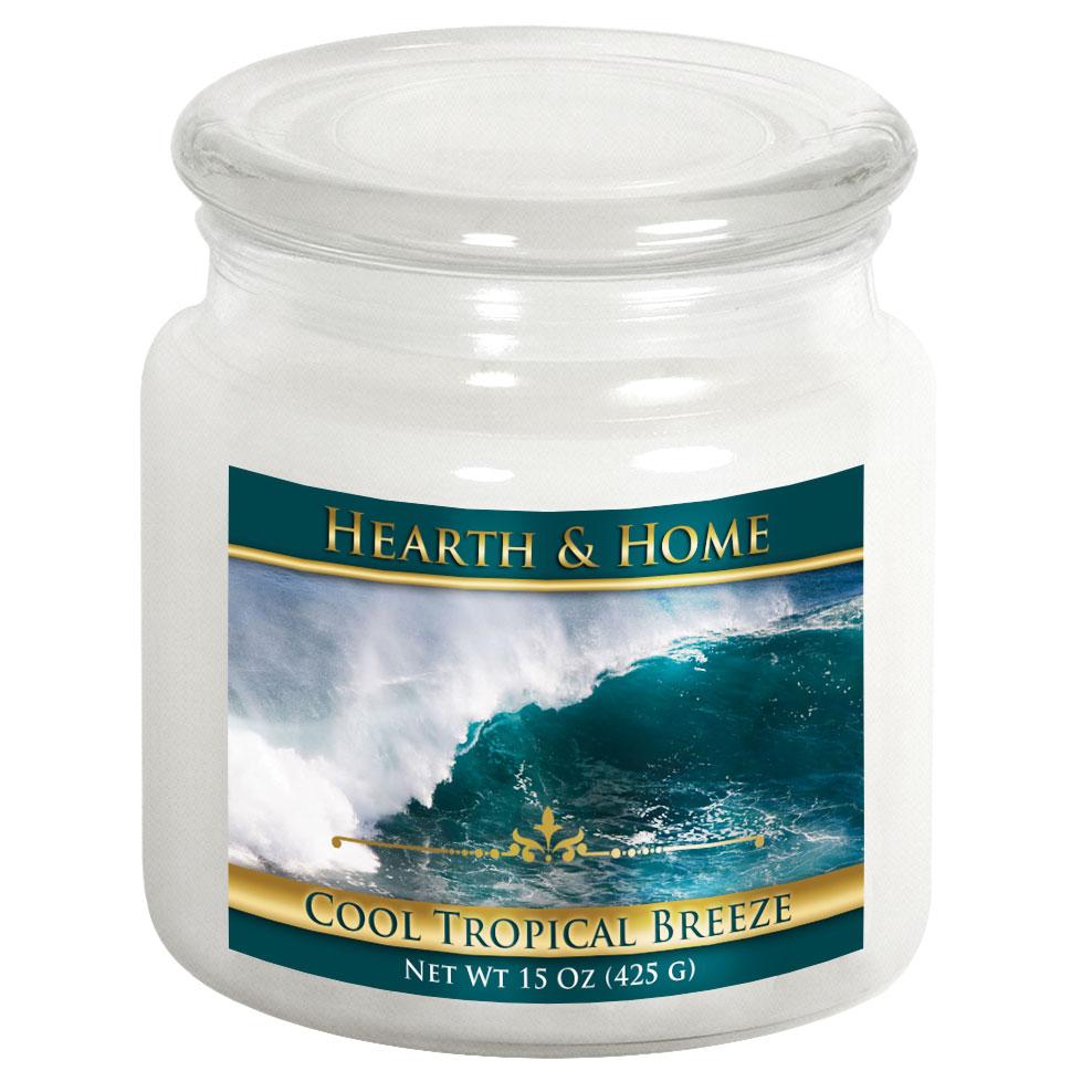 Cool Tropical Breeze - Medium Jar Candle