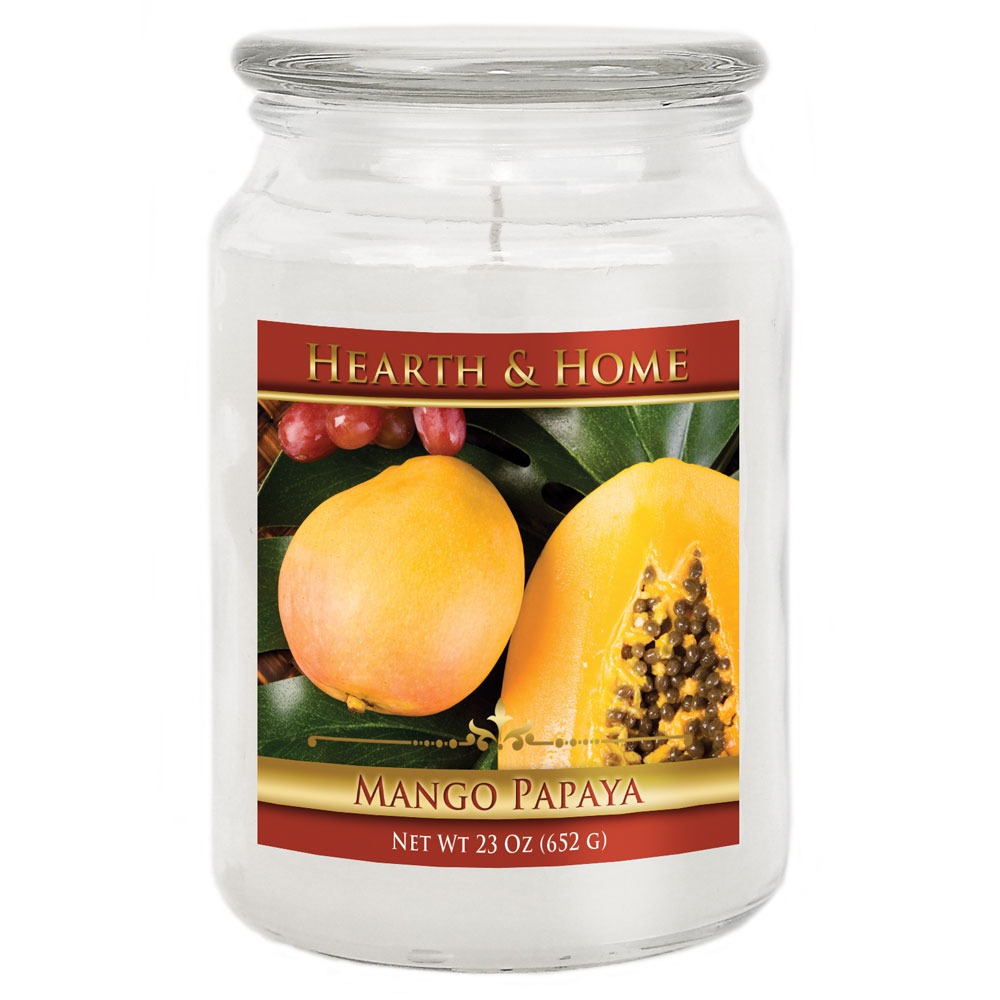 Mango Papaya - Large Jar Candle