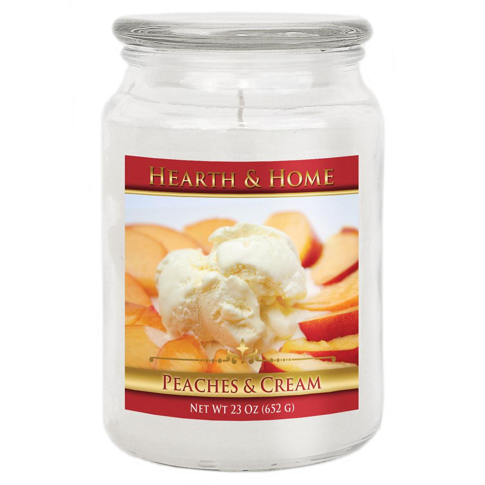 Peaches & Cream - Large Jar Candle