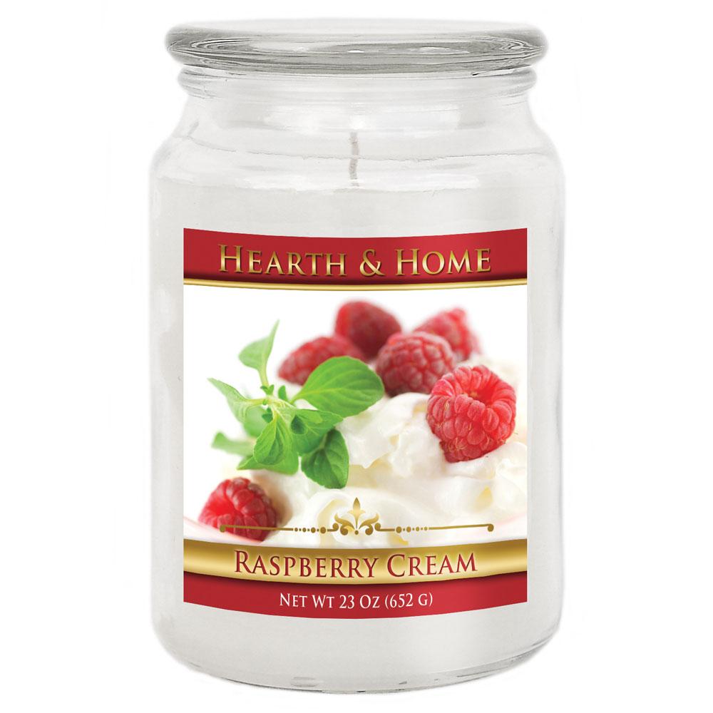 Raspberry Cream - Large Jar Candle
