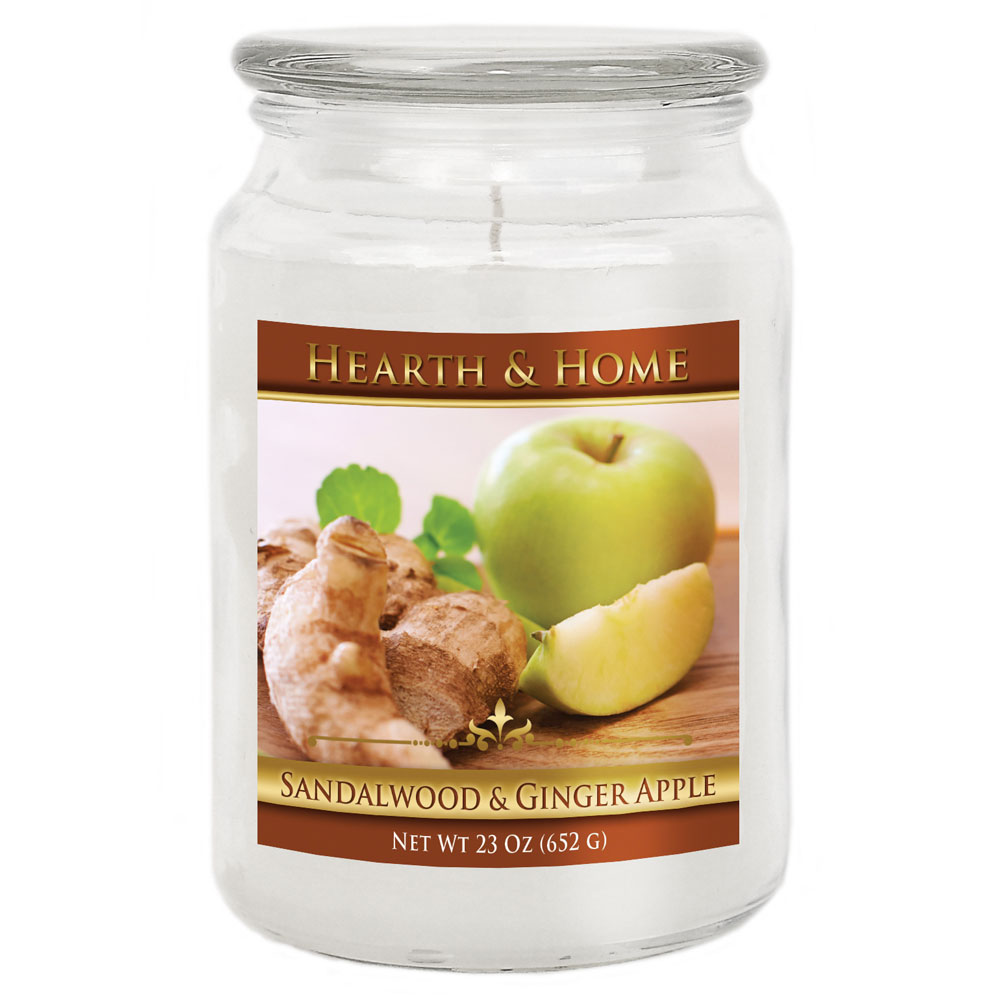 Sandalwood & Ginger Apple - Large Jar Candle