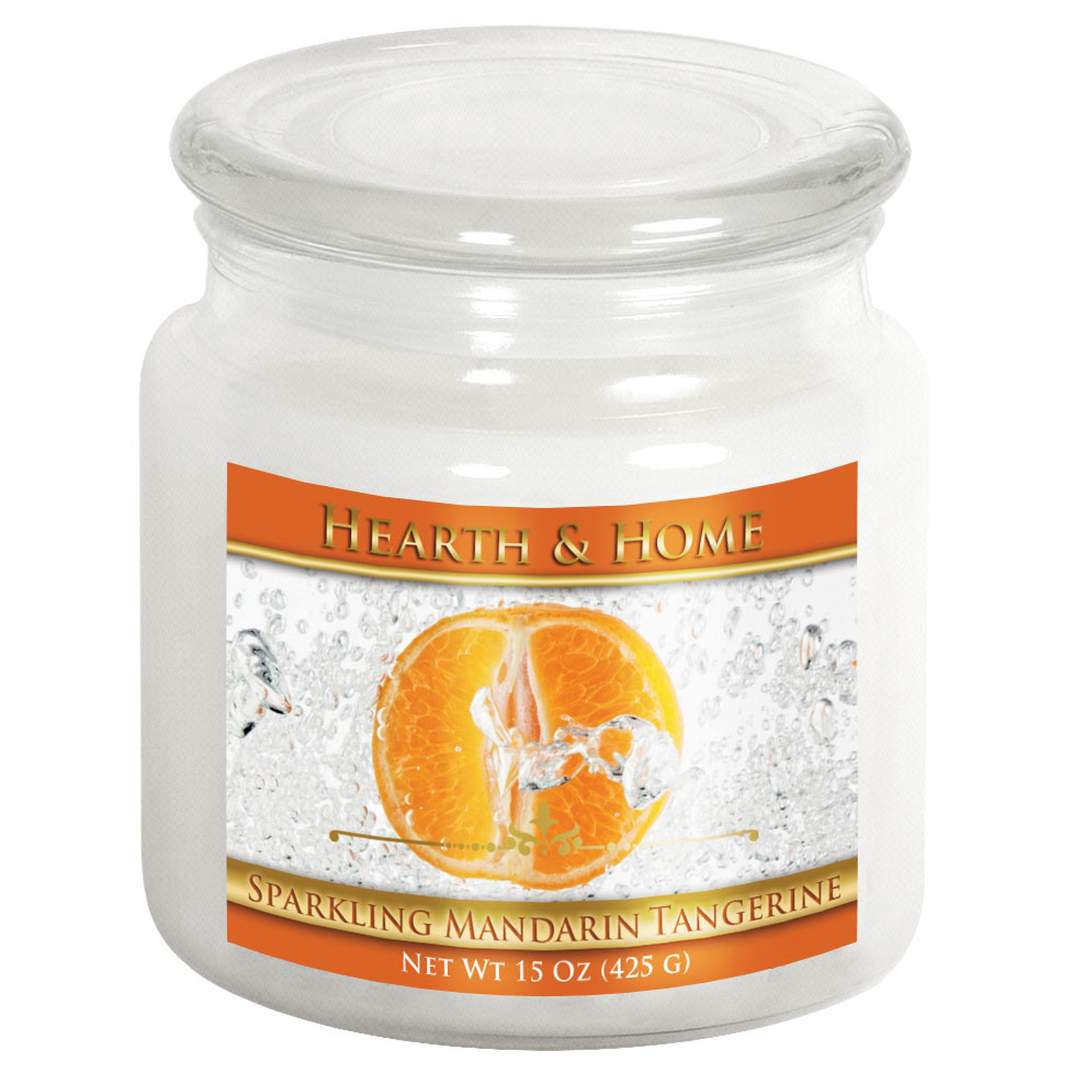 Sparkling Mandarin Tangerine - Medium Jar Candle