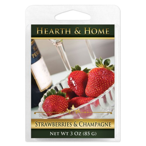 Strawberries & Champagne Scented Wax Melt Cubes - 6 Pack