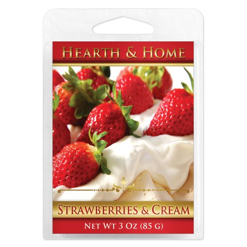 Strawberries & Cream Scented Wax Melt Cubes - 6 Pack