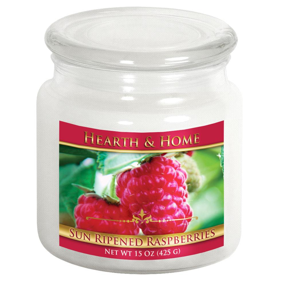 Sun Ripened Raspberries - Medium Jar Candle