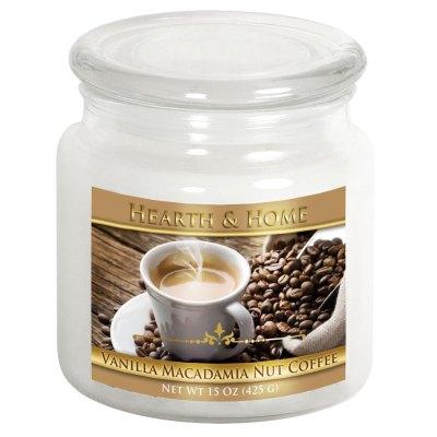 Vanilla Macadamia Nut Coffee - Medium Jar Candle