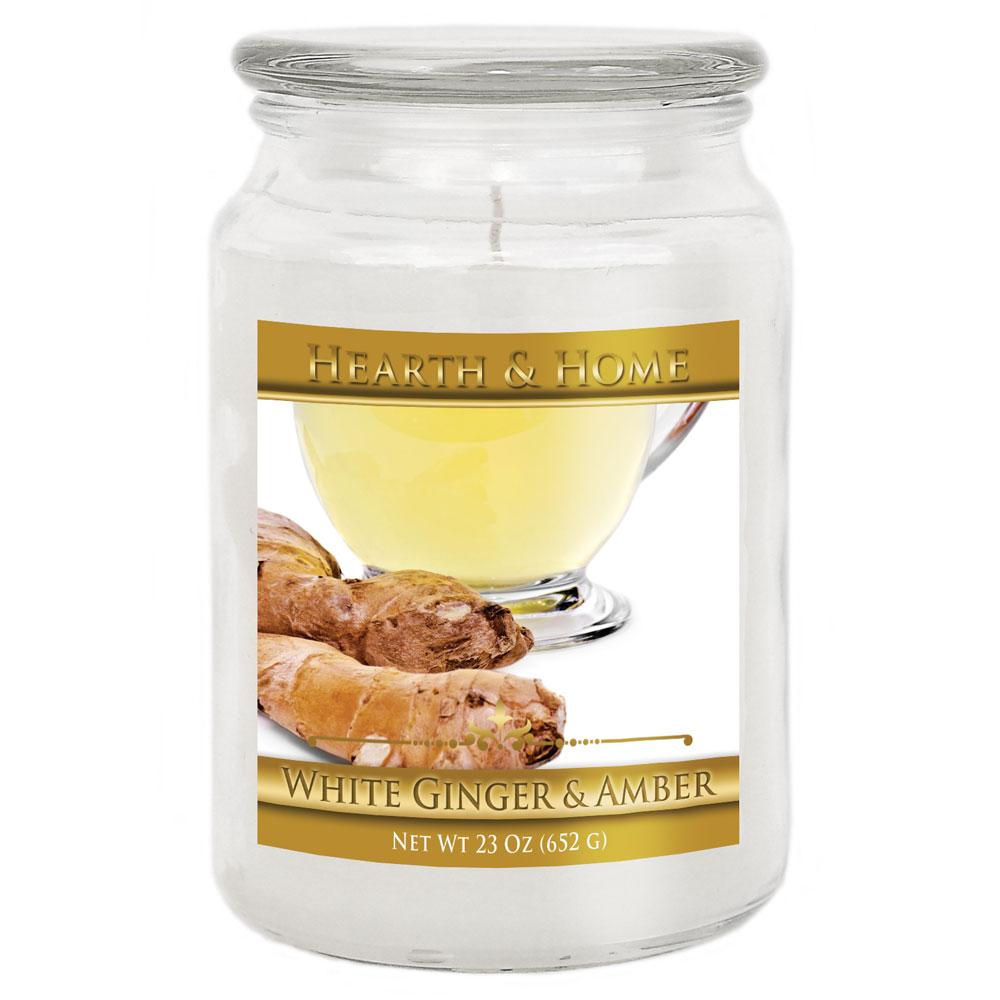 White Ginger & Amber - Large Jar Candle