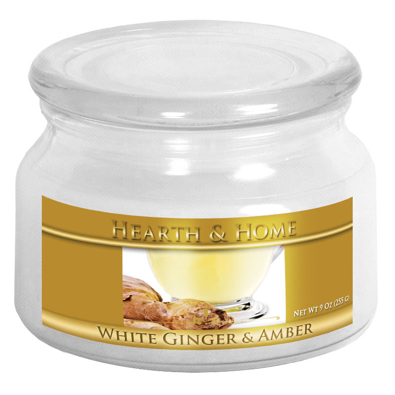 White Ginger & Amber - Small Jar Candle