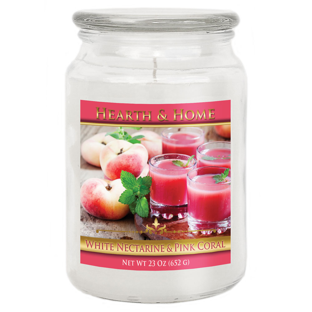 White Nectarine & Pink Coral - Large Jar Candle