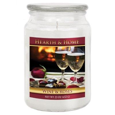 Wine & Roses - Large Jar Candle