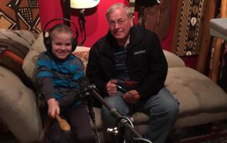 Ayrton Dobson and his grandfather