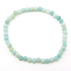 Amazonite 4mm bead bracelet.