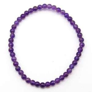 Amethyst 4mm bead bracelet.