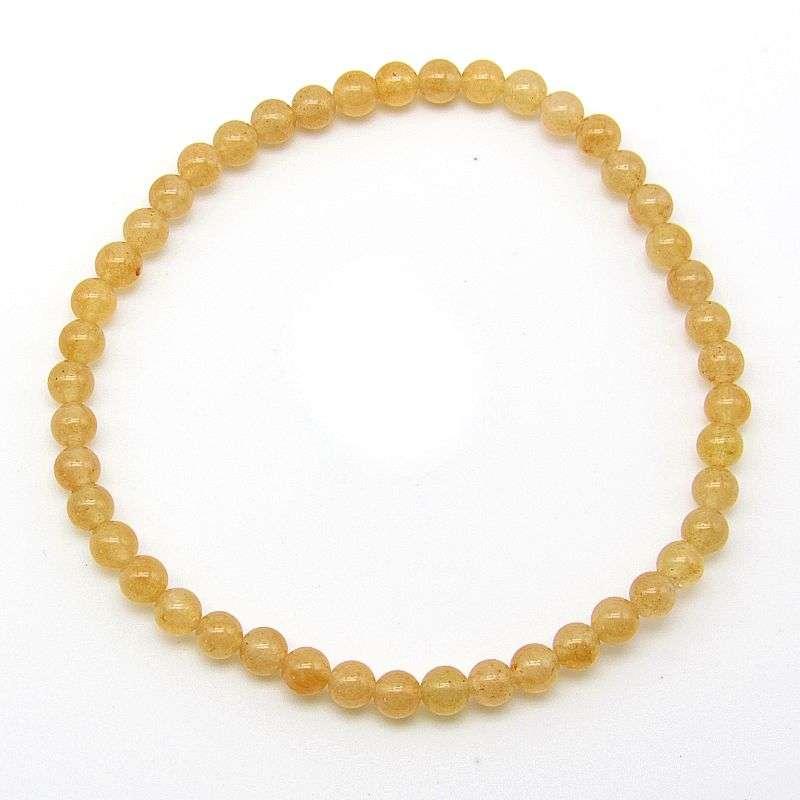 Red aventurine 4mm bead bracelet.