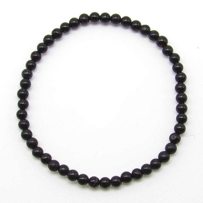 Black obsidian 4mm bead bracelet.