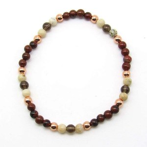 4mm chakra bead bracelet - earth chakra