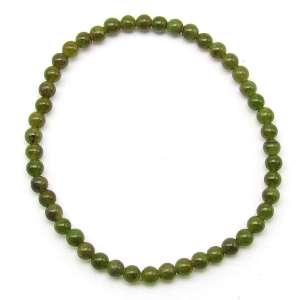 Nephrite jade 4mm bead bracelet