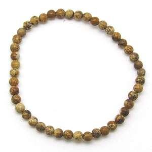 Picture jasper 4mm bead bracelet