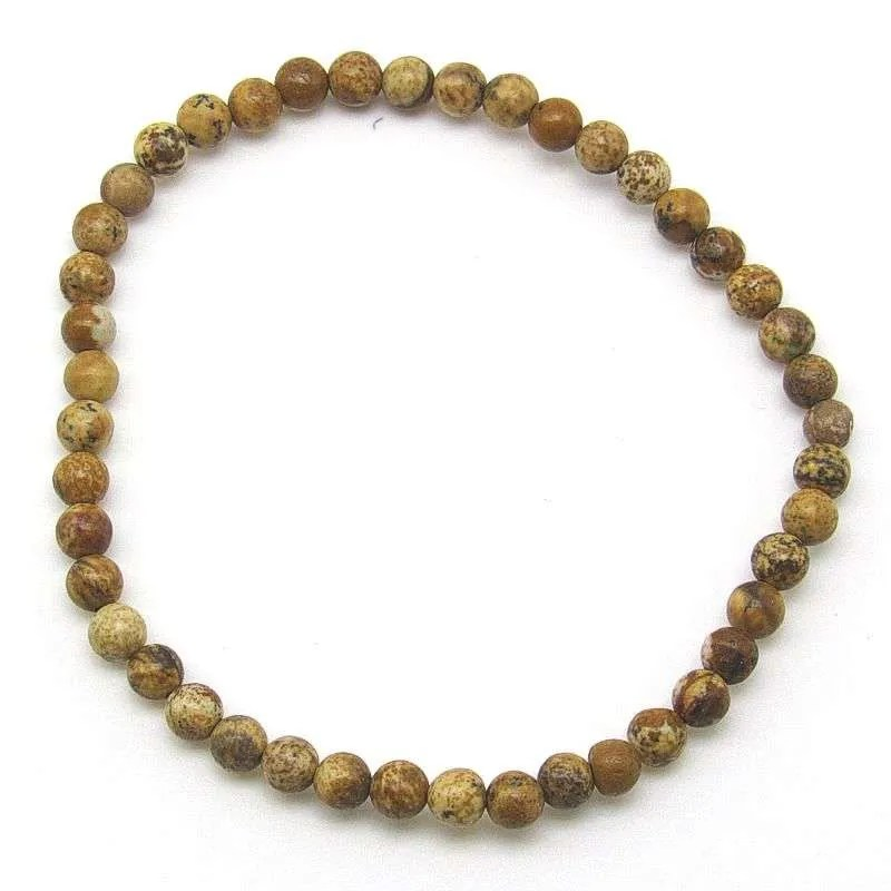 Picture jasper 4mm bead bracelet