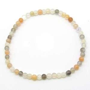 Multi-moonstone 4mm bead bracelet