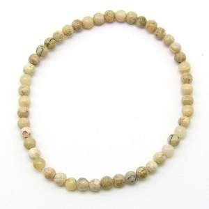 Moss opal 4mm bead bracelet