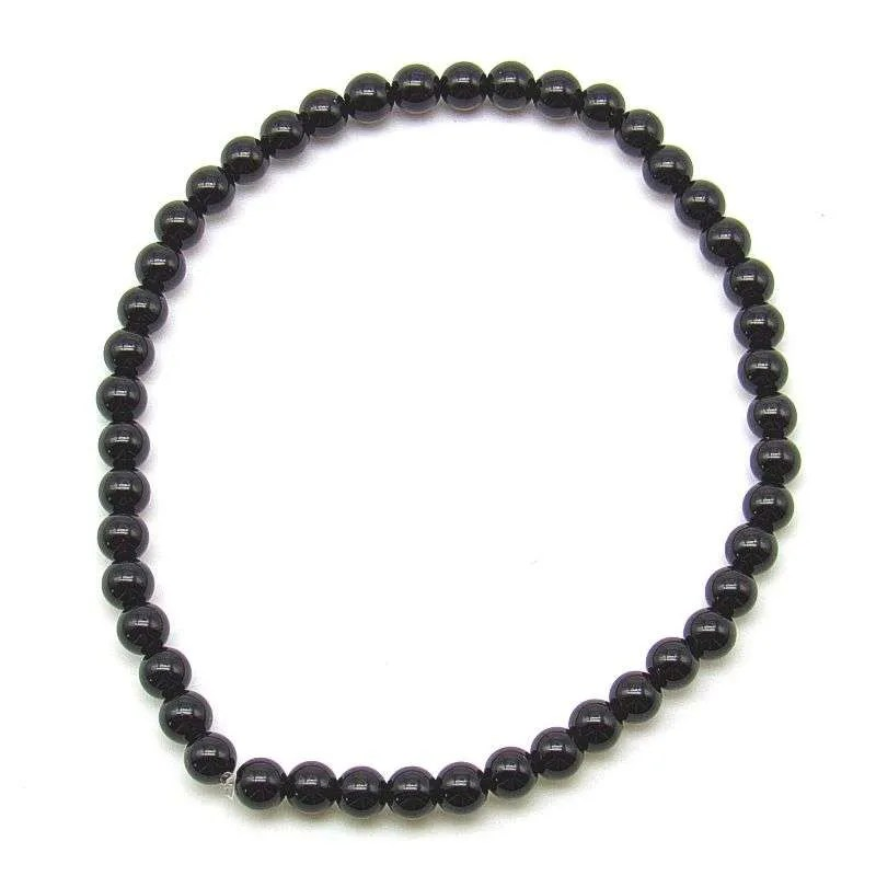 Black onyx 4mm bead bracelet