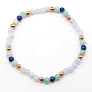 4mm chakra bead bracelet - throat chakra