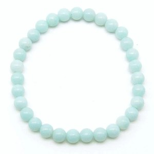 Amazonite 6mm bead bracelet.