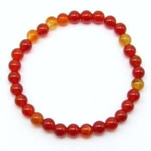 Carnelian 6mm bead bracelet