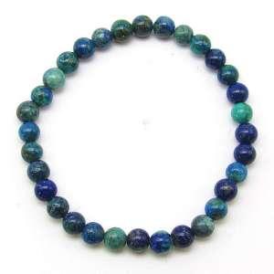 Chrysocolla 6mm bead bracelet