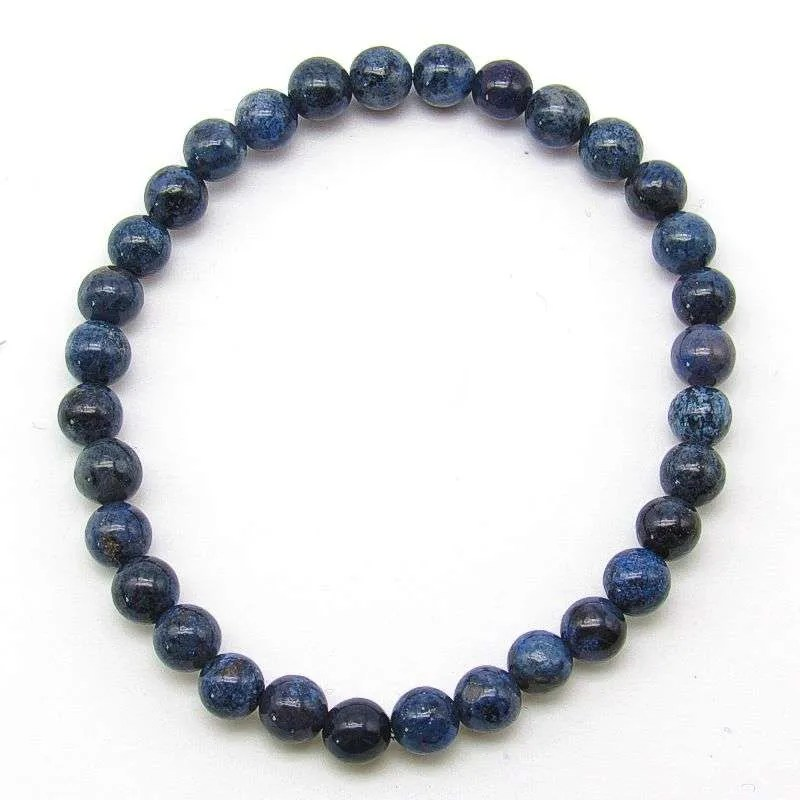 Dumortierite 6mm bead bracelet