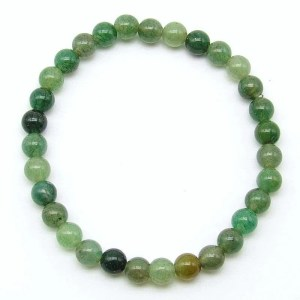 Green aventurine 6mm bead bracelet