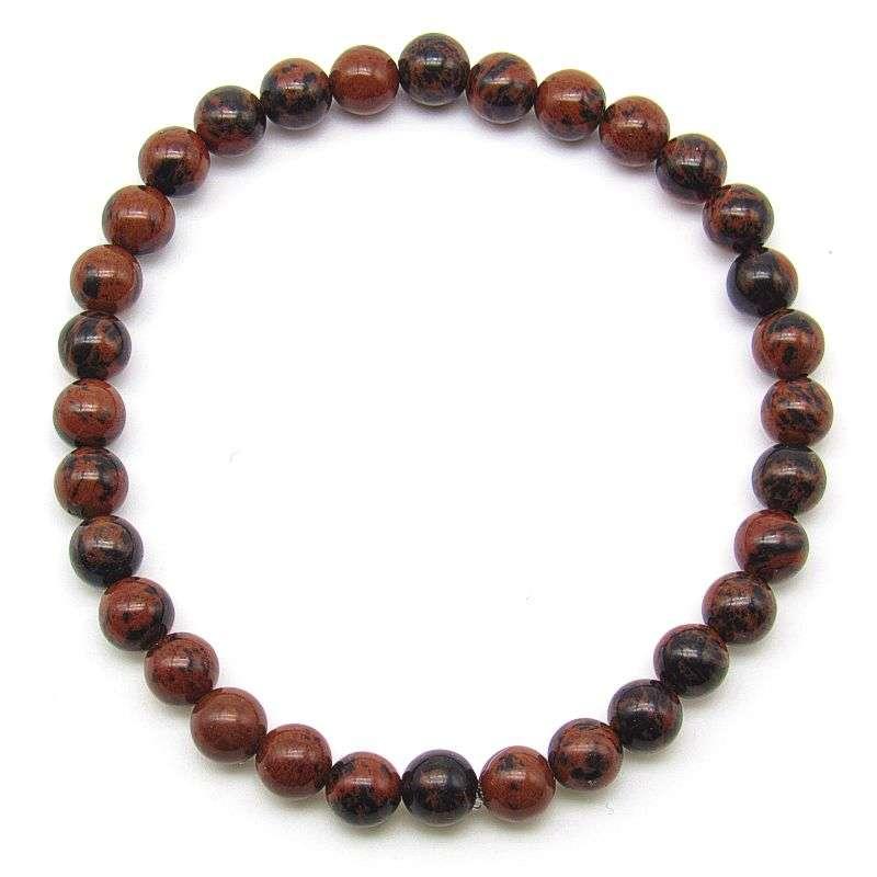 Mahogany obsidian 6mm bead bracelet