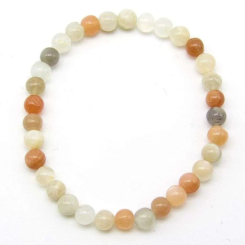 Mulit-moonstone 6mm bead bracelet