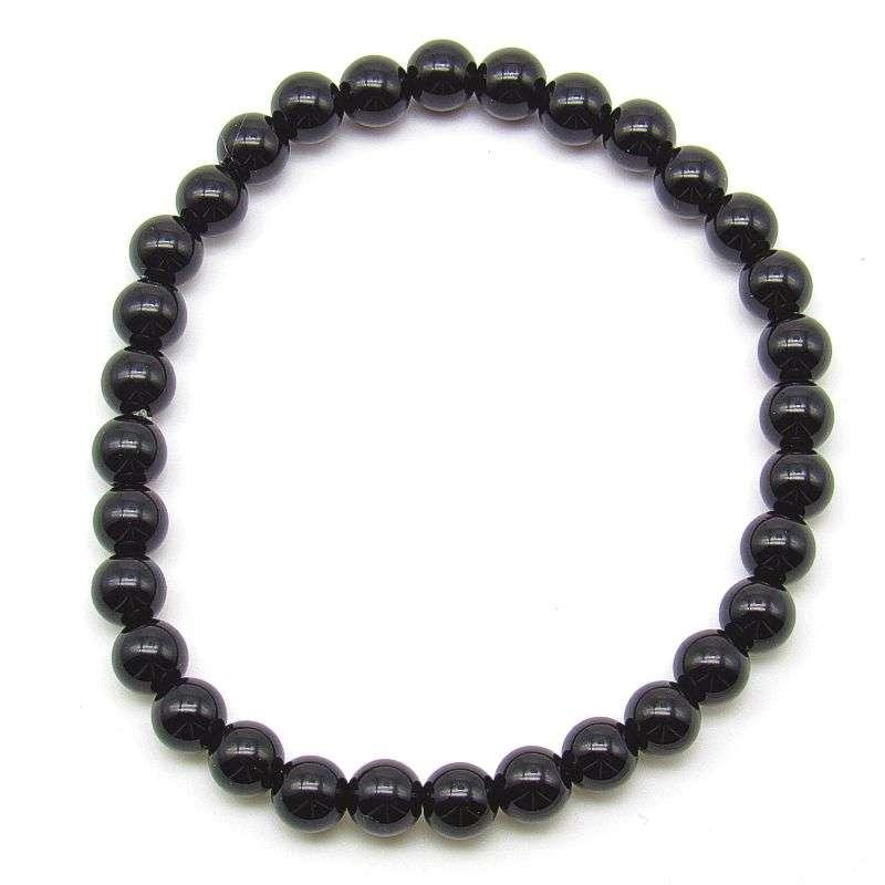 Black onyx 6mm bead bracelet