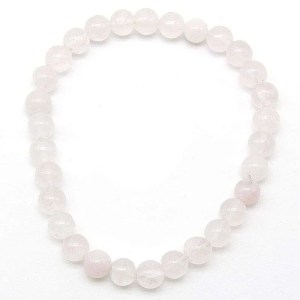 Rose quartz 6mm bead bracelet