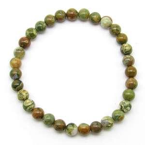 Rhyolite 6mm bead bracelet