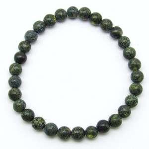 Russian serpentine 6mm bead bracelet
