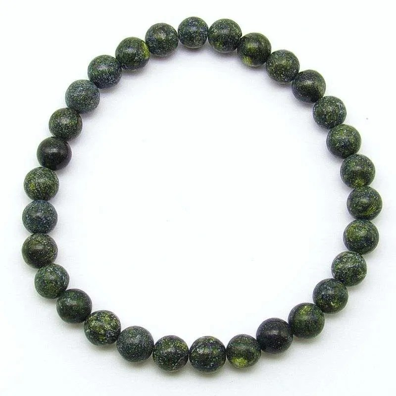 Russian serpentine 6mm bead bracelet