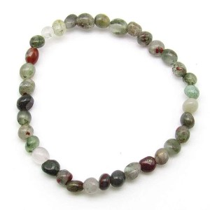 African bloodstone small pebble bead bracelet