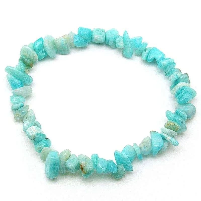 Peruvian amazonite chip bracelet.