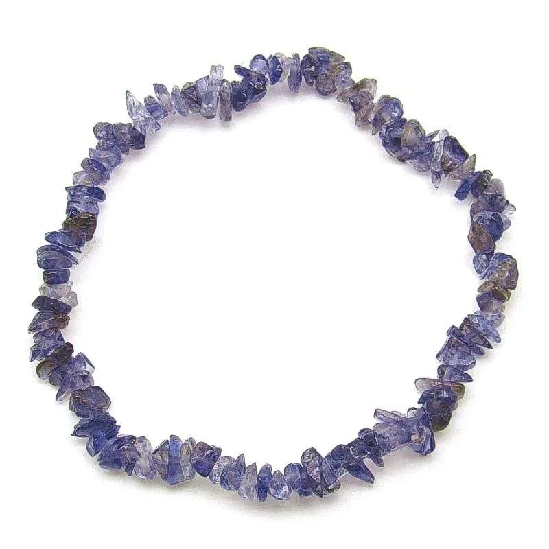 Iolite small chip bead bracelet.