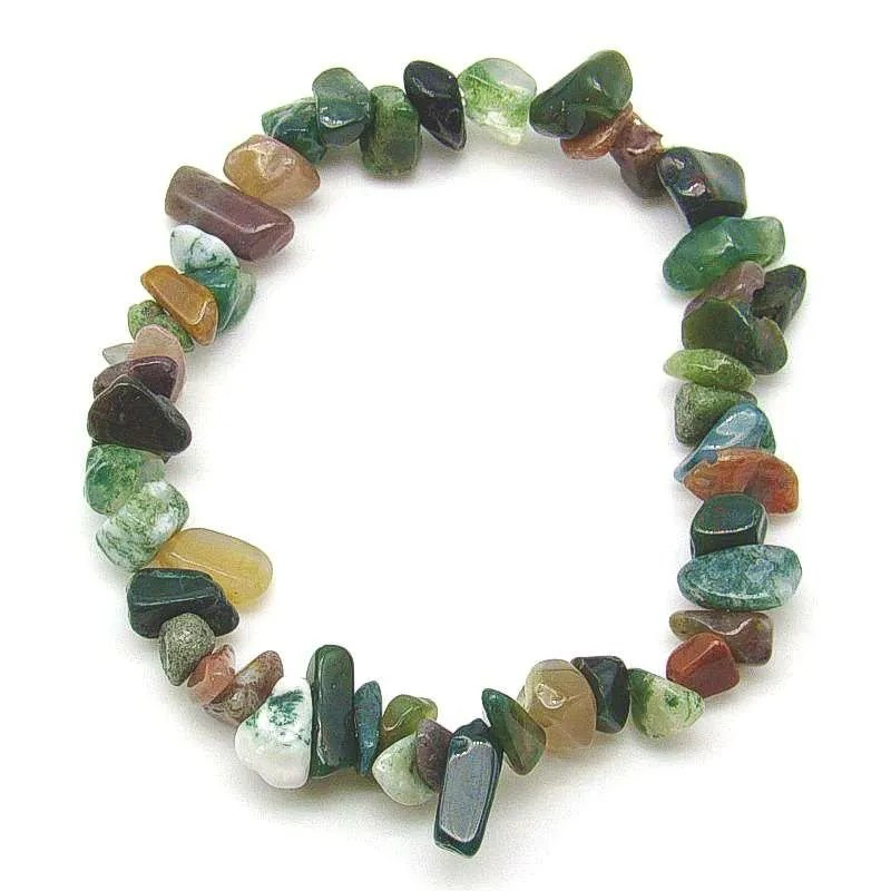Fancy jasper chip bracelet.