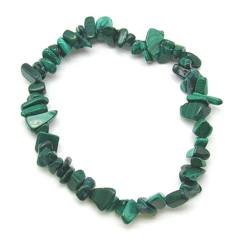 Malachite chip bracelet.