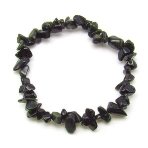 Mixed obsidian chip bracelet.