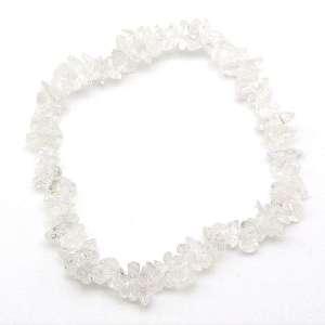 Clear quartz chip bracelet.