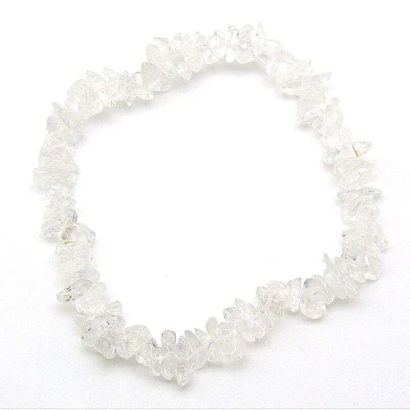 Clear quartz chip bracelet.