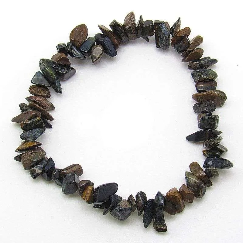 Blue tiger's eye chip bracelet.