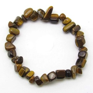 Golden tiger's eye chip bracelet.
